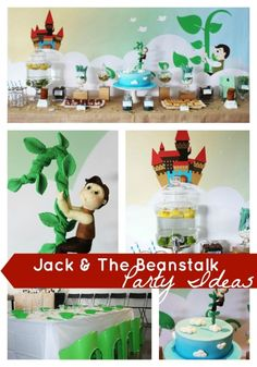 Jack and the Beanstock First Birthday {Boy Book Party Ideas} - www.spaceshipsandlaserbeams.com