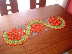 (14) Camino de mesa de margaritas a crochet paso a paso parte 2/2 - YouTube