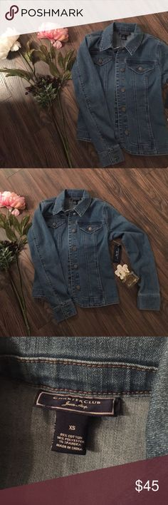 NWT denim jacket Very cute. Price firm unless bundle. No trades. Runs true to size. Charter Club Jackets & Coats