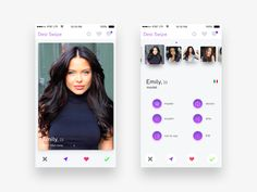Dating App Mock Ups by Denys Sergushkin ✪
