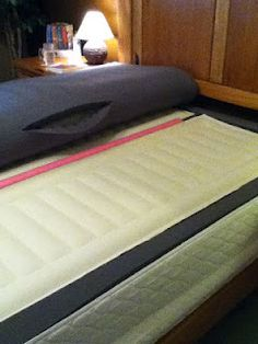 use a pool noodle to fix a sagging sleep number bed - Sleep Number Bed Frames