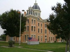 Marfa, TX : Courthouse w/USA Flag Art - Marfa, Texas
