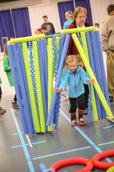 """Oodles of Fun with Pool Noodles.  A """"how-to"""" blog to create fun games for kids! #BLENDCentralMN"""