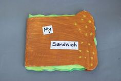 My Sandwich book. Lots of ideas for different fun books to create.