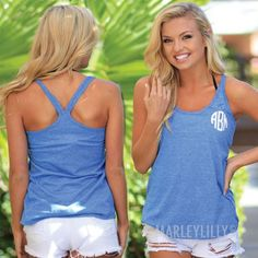 Monogrammed Heathered Summer Tank Top