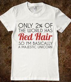 RED HAIR MAJESTIC UNICORN-pretty much