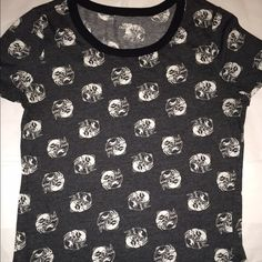 Bunny ying-yang t-shirt Charcoal t-shirt with bunny pattern  Like new!! Urban Outfitters Tops Tees - Short Sleeve