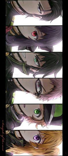 Guuren, Shinoa, Yuu, Kimizuki, Yoichi and Mitsuba Otaku Anime, Manga Anime, Kpop Anime, Anime Eyes, Anime Art, I Love Anime, Me Me Me Anime, Shinoa Hiiragi, Seraphin