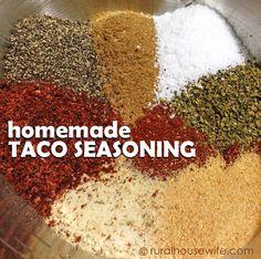Large Batch Homemade Taco Seasoning - Rural Housewife