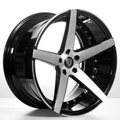 "20"" MQ Wheels 3226 Black W Brush Face Rims *Deep Concave (Reg $1499) #AudioCity"
