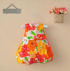 http://www.aliexpress.com/store/621900   2013 hot new Fashion Cotton girls dress beautiful baby orange flower Summer wedding princess Dresses Children clothing