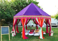 Luxurious Indian Tents for Garden party and private dining