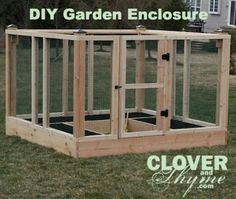 DIY Garden Enclosure - great instructions, keep kids, pets, and critters out
