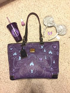 Disney and purple obsessed!  Disney Dooney and Bourke