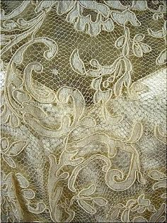 Antique Lace, embroidered net lace
