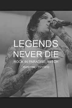 "Rest in peace, Mitchell Adam Lucker. You were a great inspiration to many, including myself. You left behind a beautiful daughter and wife, a legacy, and the wonderful brutality of your music. You will not be forgotten, Mitch. And I know you're watching over Kenadee from your cloud up there somewhere. We all love you. Keep doing you're thing and ""Lucker Stomping"" out the thunder. Rock in paradise, bubba."