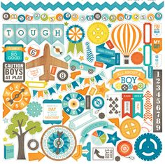Echo Park - All About a Boy - 12 x 12 Cardstock Stickers - Elements at Scrapbook.com $2.99