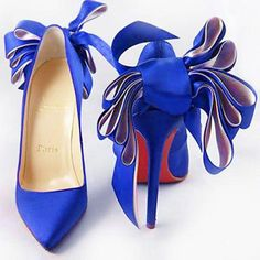 a2ea58ad811d Cheap Christian Louboutin Anemone Satin Evening Blue Red Sole Shoes For  Sale