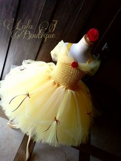 Belle Tutu Dress SET  Floor Length US Shipping INCLUDED Costumes For Teens, Toddler Costumes, Tutu Costumes, Disney Costumes, Beauty And Beast Wedding, Beauty And The Beast Party, Little Girl Dresses, Flower Girl Dresses, Belle Tutu