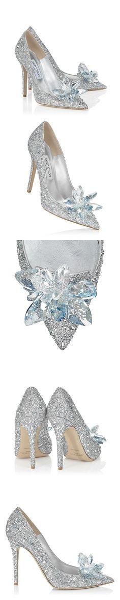 Jimmy Choo Crystal Covered Pointy Toe Pump 'Cinderella Slipper'   #Cinderella   #Exclusive #JimmyChoo