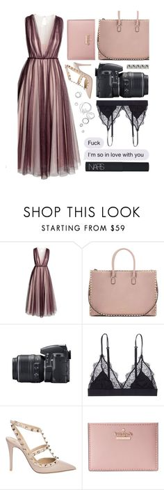 """""""D R E S S ."""" by glittergirlxy ❤ liked on Polyvore featuring H&M, Valentino, Nikon, LoveStories, Kate Spade, NARS Cosmetics, Summer, Spring, ootd and glam"""