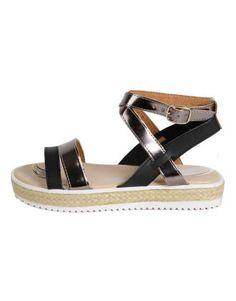 ΝΕΕΣ ΑΦΙΞΕΙΣ :: Σανδάλια Shine Bright Black - OEM Espadrilles, Sandals, Shoes, Black, Fashion, Espadrilles Outfit, Moda, Shoes Sandals, Zapatos