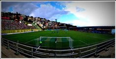 The picturesque Paljor stadium at Mizoram.  The FIFA standard soccer field is the playground of United Sikkim FC, owned by Baichung Bhutia. The field was voted The Best Venue by I-League players during the Indian Football Awards.  For more info, plz visit www.greatsportsinfra.com
