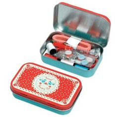 Vintage Doily Travel Sewing Kit :)