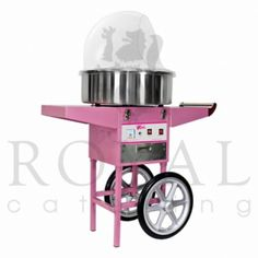 Professionele mobiele suikerspin machine (met kar en afdekkap)
