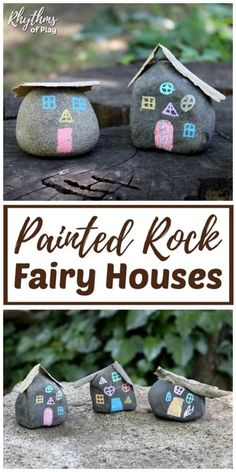 Fairy House Painted Rocks Fairy House Painted Rocks,FAIRY CRAFTS & ACTIVITIES DIY Painted rock crafts like this fairy house craft are perfect for fairy gardens. Painted rock fairy houses for the garden are an. Fairy Houses Kids, Fairy House Crafts, Fairy Garden Houses, Garden Crafts For Kids, Easy Crafts For Kids, Projects For Kids, Diy For Kids, Fairy Gardens For Kids, Craft Projects