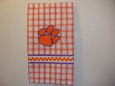 Hey, I found this really awesome Etsy listing at https://www.etsy.com/listing/104247173/clemson-dish-towels