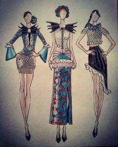 """""""#fashion #design #fashiondesigner #illustration #fashionillustration #moda #modafeminina #girl #woman #drawing #pencil #pencildrawing #dress #ragazza…"""""""