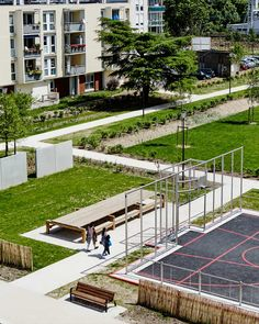 The Grand Ensemble Park – Alfortville by Espace Libre « Landscape Architecture Works | Landezine