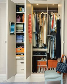 10 ways to save space in closets, hallways, and more.