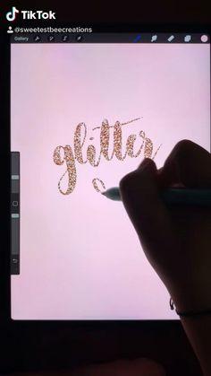 Digital Painting Tutorials, Digital Art Tutorial, Art Tutorials, Digital Art Beginner, Ipad Hacks, Ipad Art, Hand Lettering, Apps, Glitter