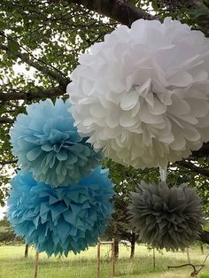 Set of 10 Tissue paper pom pom / wedding decorations / pom decorations / nursery decorations poms / baby pink decorations / diy / Set of 12 by PomMagic on Etsy https://www.etsy.com/transaction/1078098657