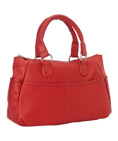 Look at this #zulilyfind! Le Donne Red Leather Satchel by Le Donne #zulilyfinds