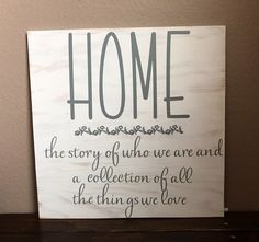 A personal favorite from my Etsy shop https://www.etsy.com/listing/501391806/home-a-story-of-who-we-are-and-a
