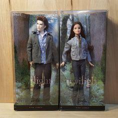 TWILIGHT Saga DOLLS ~ BELLA and EDWARD SET ~ BARBIE Collector PINK LABEL ~ NRFB #Mattel #Dolls #Twilight #Saga #Edward #Bella #Set