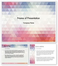 Free abstract powerpoint templates page 5 presentation abstract pastel colorful triangle pattern powerpoint template toneelgroepblik Choice Image