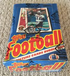 a073f6ec7 1982 TOPPS FOOTBALL WAX BOX X-OUT BBCE LAWRENCE TAYLOR RONNIE LOTT RC FREE  SHIP
