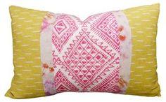 Tribal 16x24 Cotton-Blend Pillow, Multi