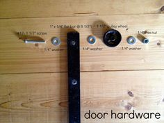 Sliding Door Console Table {Tutorial} | East Coast Creative Blog  I just want the turtorialbum for the doors