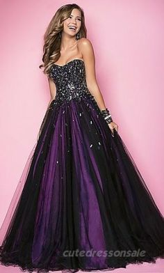 Long Empire Prom Dresses Purple Strapless Prom Dresses 04704