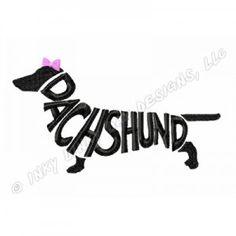 Dachshund Silhouette Breed Name