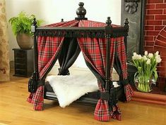 The perfect bed for a Scottish Terrier! Love it! Niches, Dog Rooms, Dog Beds, Diy Dog Bed, Puppy Beds, Dog Houses, Luxury Cat Beds, Dog Playpen, Scottish Terrier