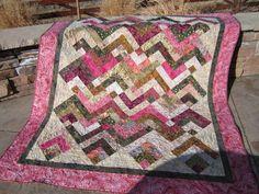Batik Quilt Pink and Green