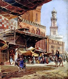 Cairo 1879 By Nikolay Makovsky , Russian, 1842-1886 Oil on canvas