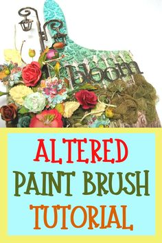 How to make an altered paint brush project - easy to follow step by step video tutorial #einatkessler #alteredart #mixedmedia #crafts #tutorial Craft Projects For Adults, Arts And Crafts For Adults, Creative Arts And Crafts, Easy Craft Projects, Craft Tutorials, Art Projects, Diy Crafts, Mixed Media Techniques, Art Journal Techniques