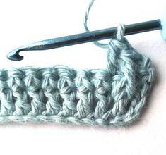 Alpine stitch - Nordic Hook Triple Crochet Stitch, Stitch Crochet, Tunisian Crochet, Single Crochet, Crochet Stitches, Crochet Cowl Free Pattern, Free Crochet, Crochet Patterns, Baby Girl Cardigans